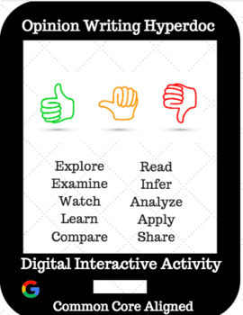 Opinion Writing Hyperdoc / Digital Interactive Activity