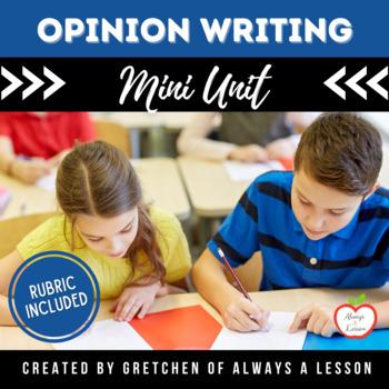 Opinion Writing Task Card Center