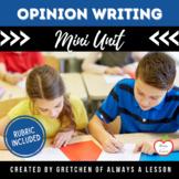 Opinion Writing Idea Task Card Center