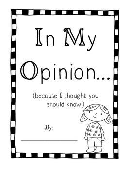 "Opinion Writing - ""In my opinion..."""