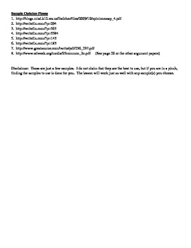 Opinion Writing Intro