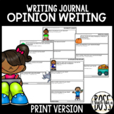 Opinion Writing Journal Prompts