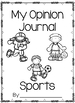 Opinion Writing Journal- Sports