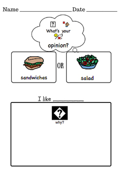 Opinion Writing- Kindergarten Differentiated Worksheets