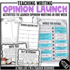 Opinion Writing Launch Activities