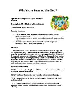Opinion Writing Lesson Plan Using International Literature