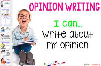 Opinion Writing Lesson and Resources with Rubric