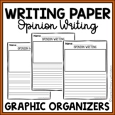 Opinion Writing Lined Paper with Picture Boxes