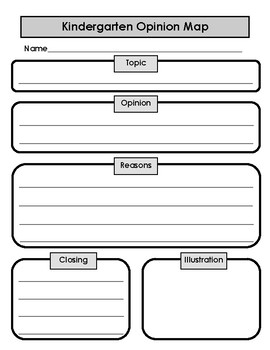 Opinion Writing Map With Closure