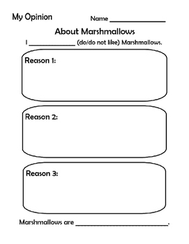Opinion Writing- Marshmallows