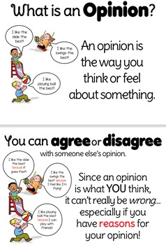 Opinion Writing Materials