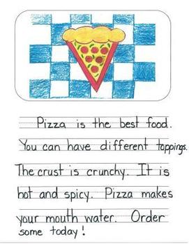 Opinion Writing Mentor Texts in First Grade: What is the Best Food?