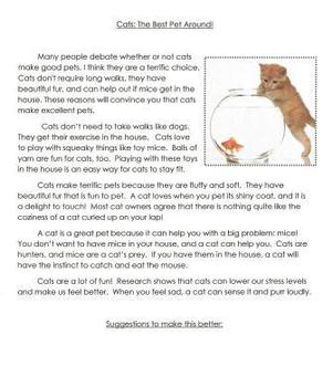 Opinion Writing Mentor Texts in Grades 4, 5 and 6: What is the Best Pet?