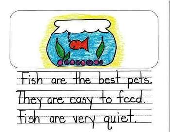 Kindergarten writing prompts: opinion writing & picture prompts.