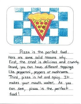 Opinion Writing Mentor Texts in Second Grade: What is the Best Food?