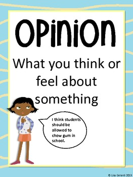 Opinion Writing - Mini-posters, Prompts, Graphic Organizer, Rubric