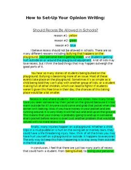 Opinion Writing Model