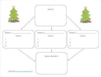 Opinion Writing Models Grade 4, 5 and 6: Real or Artificial Christmas Tree?