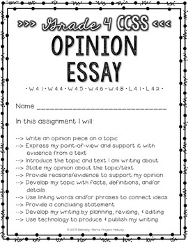 Opinion Writing: Multi-Draft Opinion Essay for Grade 4 (CCSS)