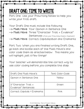 Opinion Writing: Multi-Draft Opinion Essay for Grade 5 (CCSS)