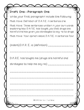 D.A.R.E. Essay: Multi-Draft Opinion Writing for Grade 5 (CCSS)