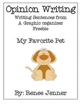 Opinion Writing My Favorite Pet Freebie