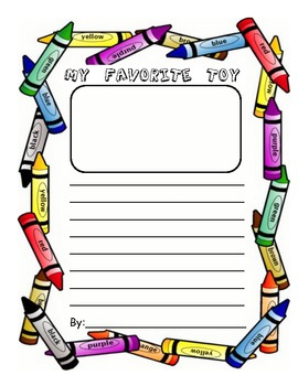 Opinion Writing: My Favorite Toy