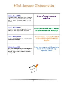 Opinion Writing- No Prep Printables and Mini Lessons
