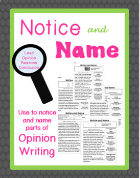 Opinion Writing: Notice and Name