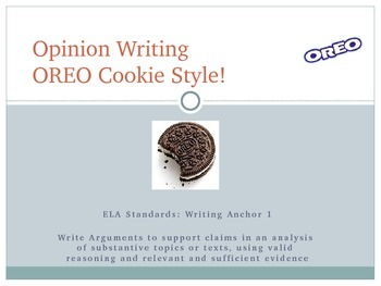 Opinion Writing - OREO Cookie Style!