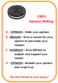 Opinion Writing OREO Mini Poster or Interactive Notebook Page
