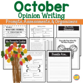 Opinion Writing - October Events - Prompts, Organizers, Exemplars and More!