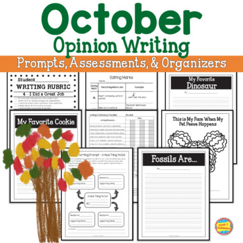 Opinion Writing - October Events - Prompts, Organizers, Ex