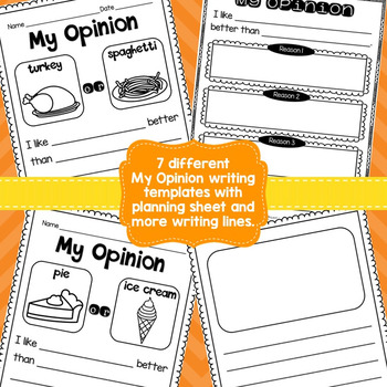 Opinion Writing {October and November Themes}