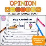 Opinion Writing {October and November Themes}