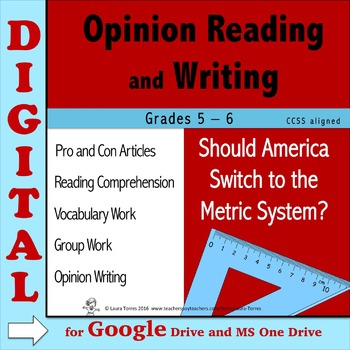 Opinion Writing & Opinion Reading DIGITAL - Should America Switch to Metrics?