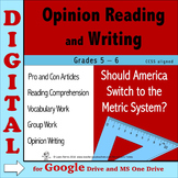 Opinion Writing & Reading DIGITAL - Switch to Metrics? Dis