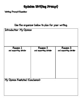 Opinion Writing Organization Pack