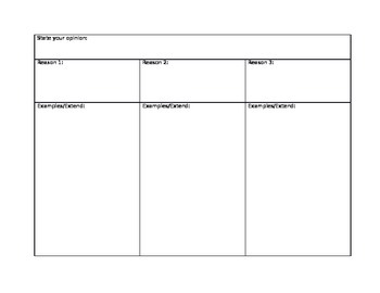 Opinion Writing Organizer