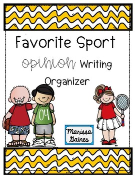 Opinion Writing Organizer {Favorite Sport}