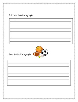 Opinion Writing Organizer {Favorite Sport}