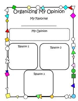 Opinion Writing Organizer /My Favorite...