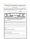 Opinion Writing Organizer-trampoline 2.6 paragraphs