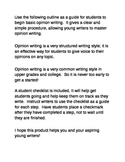 Opinion Writing Outline