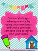 Opinion Writing Pack: I Want a Pet