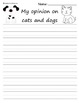 Common Core Opinion Writing Packet For 1st through 3rd