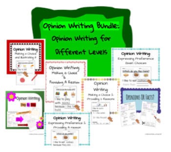 Opinion Writing Packet- Opinion Writing for Different Levels