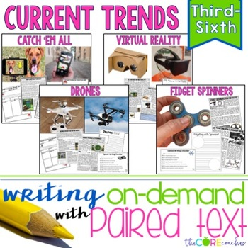 Current Trends Bundle: Writing On-Demand Argumentative and Opinion Essays