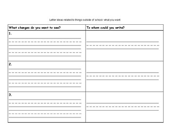 Opinion Writing Paper and Organizers