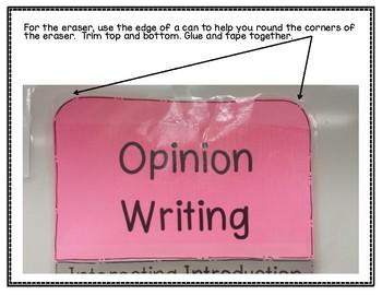 3 Foot Opinion Writing - Pencil Chart